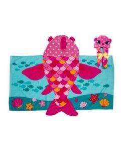 Πετσέτα θαλάσσης Ροζ Ψαράκι 2