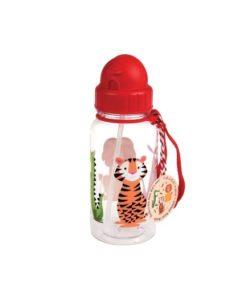 Μπουκάλι νερού με καλαμάκι ζωάκια2