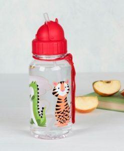 Μπουκάλι νερού με καλαμάκι ζωάκια1