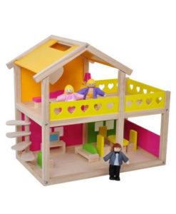 Ξύλινο Σπίτι - Βίλα με ανθρωπάκια & αξεσουάρ