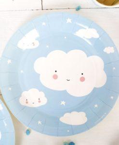 Χάρτινα Πιατάκια Σύννεφο1