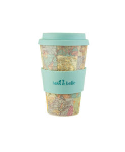 bamboo vintage map collage cup 2