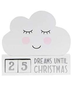 Ξύλινο σύννεφο αντίστροφη μέτρηση Χριστούγεννα
