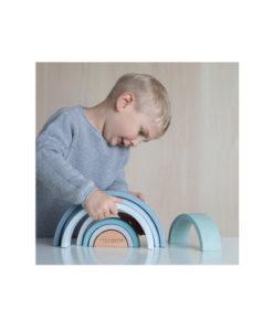 Ξύλινο τρισδιάστατο Ουράνιο Τόξο γαλάζιο - Little Dutch