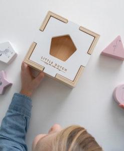 Ξύλινο παιχνίδι ταξινόμησης σχημάτων ροζ - Little Dutch