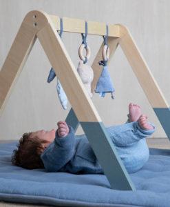 Ξύλινο βρεφικό γυμναστήριο Adventure Blue - Little Dutch