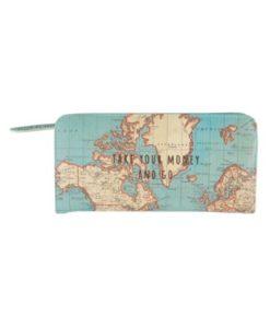 Πορτοφόλι Vintage Map - Sass and Belle