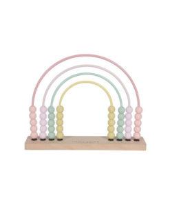 Ξύλινο Αριθμητήριο Ουράνιο τόξο ροζ - Little Dutch