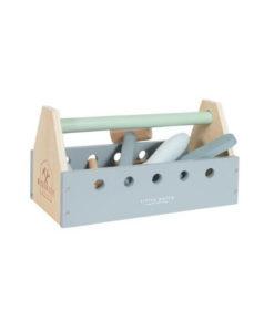 Ξύλινη εργαλειοθήκη με 20 εργαλεία - Little Dutch