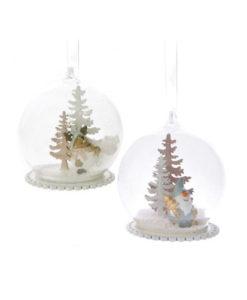 Χριστουγεννιάτικη μπάλα με φιγούρες και χιόνι σε 2 σχέδια.