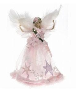 Κορυφή Δένδρου Άγγελος ροζ 28εκ.