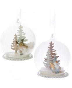 Χριστουγεννιάτικη μπάλα με φιγούρες και χιόνι
