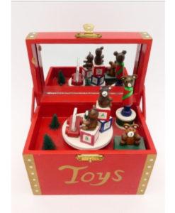 Χριστουγεννιάτικο κουρδιστό μουσικό κουτί με κίνηση
