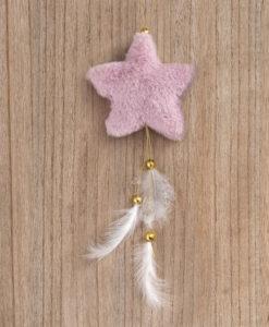 Κρεμαστό γούνινο Αστέρι ροζ