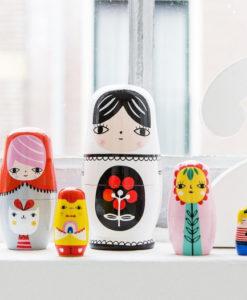 Ξύλινες κούκλες Μπαμπούσκες Fleur & Friends - Petit Monkey