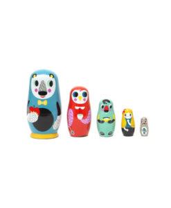 Ξύλινες Κούκλες Μπαμπούσκες Ζώα του Δάσους - Petit Monkey