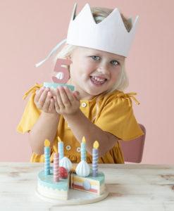 Ξύλινη τούρτα με κεράκια και αριθμούς - Little Dutch