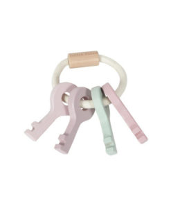 Ξύλινο μπρελόκ κλειδιών ροζ - Little Dutch