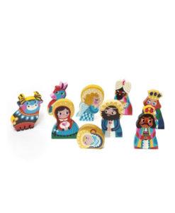 Ξύλινο Σετ με Φιγούρες Χριστουγεννιάτικη Φάτνη - Petit Monkey