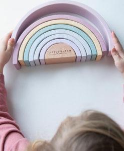Ξύλινο τρισδιάστατο Ουράνιο Τόξο ροζ - Little Dutch