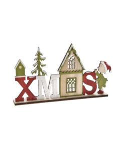 Ξύλινο διακοσμητικό σπιτάκι XMAS