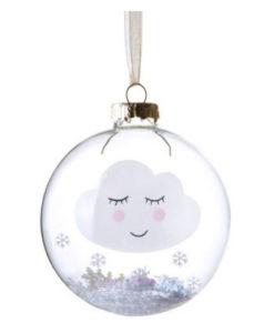 Χριστουγεννιάτικη μπάλα Συννεφάκι με χιόνι - Sass and Belle