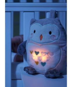 Υφασμάτινη Κουκουβάγια με ήχους και φως για τον ύπνο