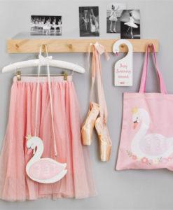 Υφασμάτινη τσάντα ώμου Κύκνος - Sass and Belle