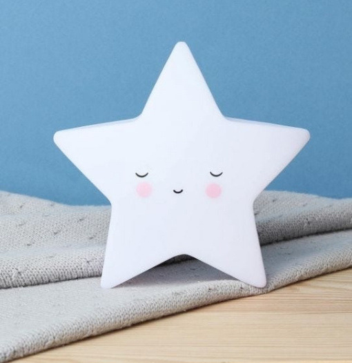 Φωτάκι Νυκτός Αστεράκι Λευκό - A Little Lovely Company