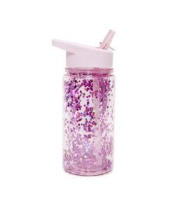 Μπουκάλι νερού με Glitter Ροζ - Petit Monkey