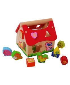 Ξύλινη φάρμα με αντιστοίχηση σχημάτων - Gerardo's Toys