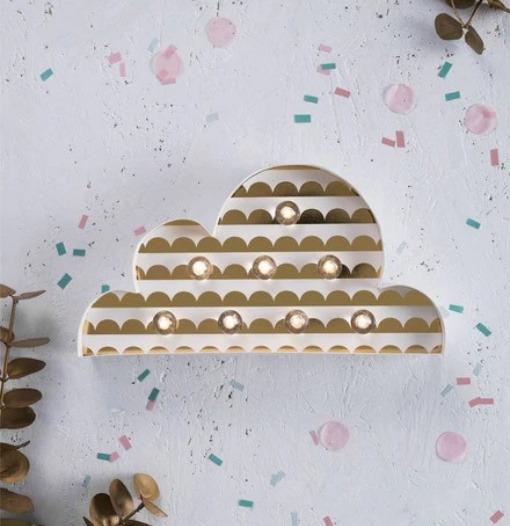 Φωτιστικό LED Σύννεφο - The Little Paper Co.