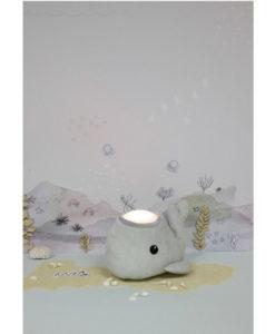 Υφασμάτινη φάλαινα φωτάκι γκρί - Teeny & Tiny
