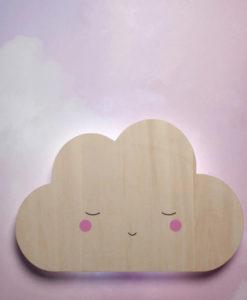 Ξύλινο φωτάκι τοίχου σύννεφο - Teeny & Tiny