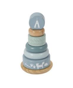 Ξύλινη πυραμίδα ταξινόμησης Adventure Blue - Little Dutch