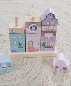 Ξύλινο παιχνίδι δεξιότητας και σύνθεσης ροζ - Little Dutch