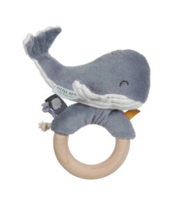 Υφασμάτινη κουδουνίστρα - μασητικό φαλαινάκι Ocean Blue - Little Dutch