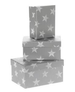 Σετ 3 χάρτινα κουτιά αστέρια - Ηλιάδης Αλέξανδρος