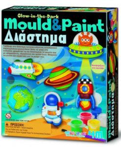 Φωσφορούχο Διάστημα Μαγνητάκια / Καρφίτσες - 4M Toys