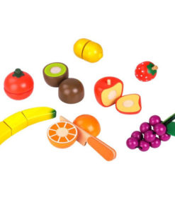 Ξύλινα Φρούτα με εργαλεία κοπής - Tooky Toy