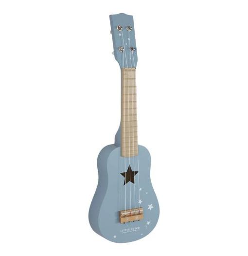 Ξύλινη Κιθάρα μπλε - Little Dutch